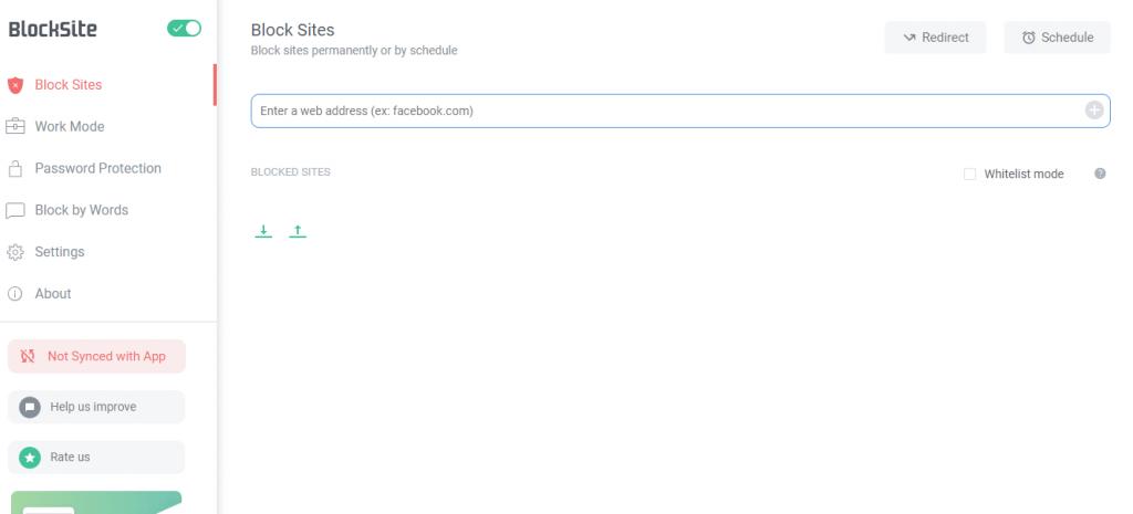 Enter Web Address - How to Block Websites on Chrome