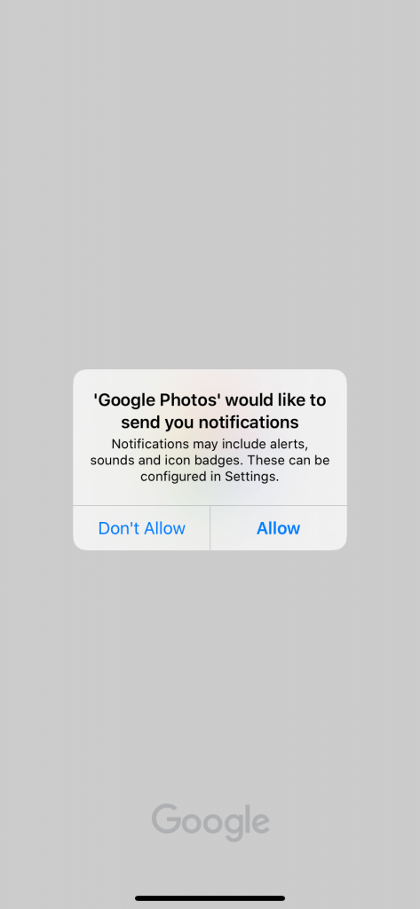 Google Photos on iPhone