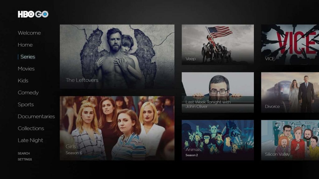 HBO GO on LG TV