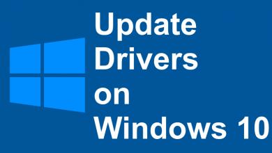 Update Drivers on Windows 10
