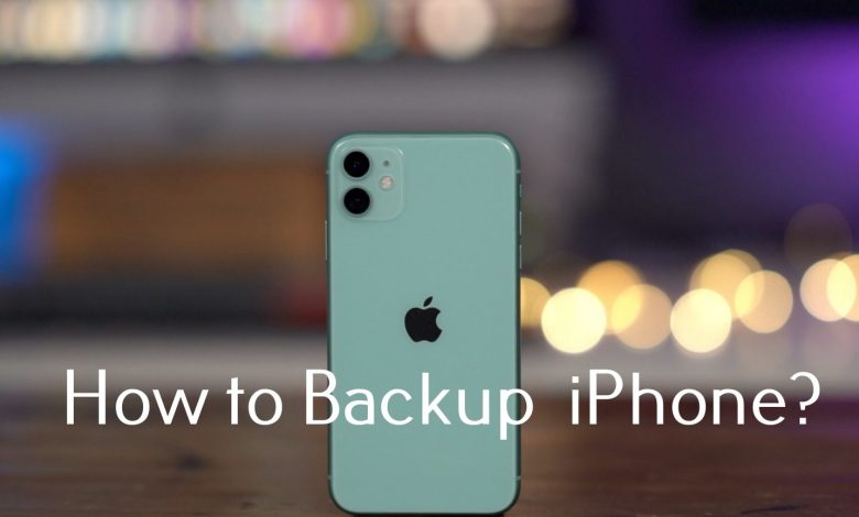How to backup iPhone