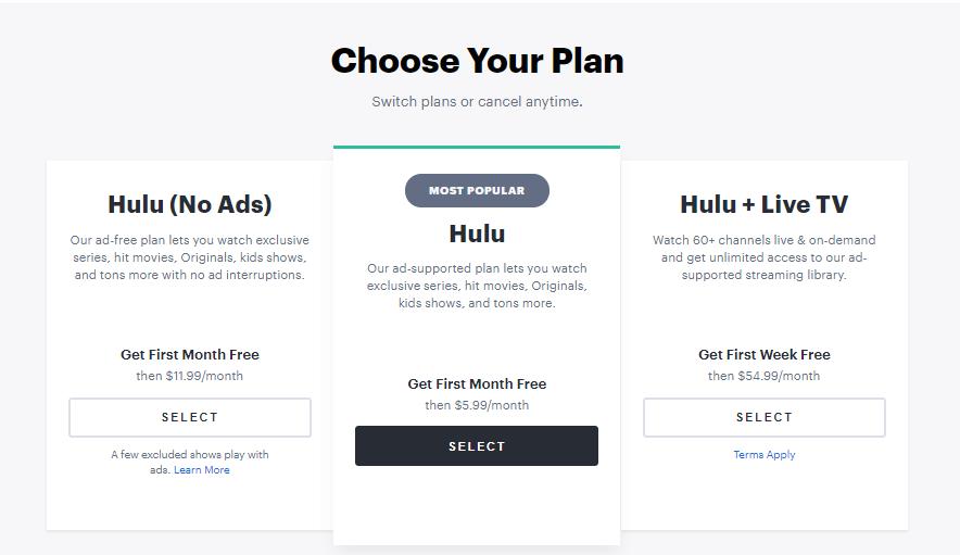 Choose Subscription Plans