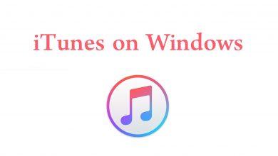 iTunes on Windows