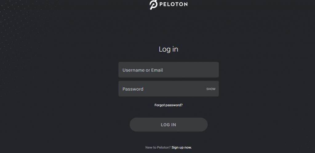 Login to Peloton Account