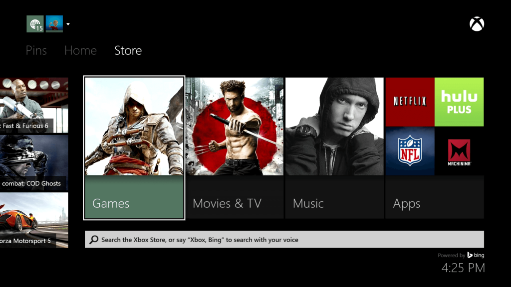 Select Store on Xbox
