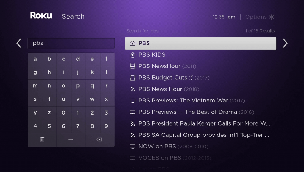 Search for PBS