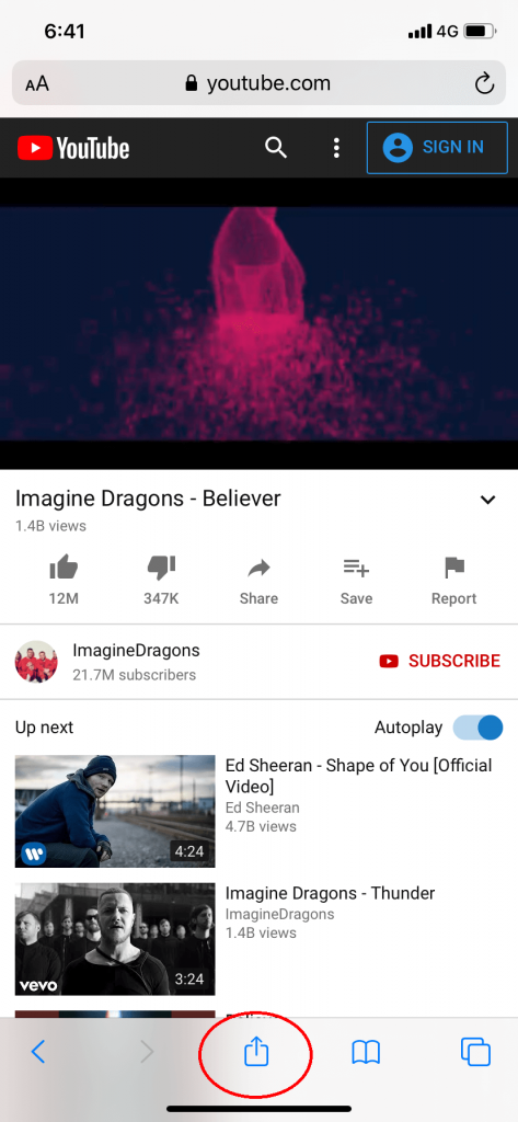Play YouTube in Background on iPhone