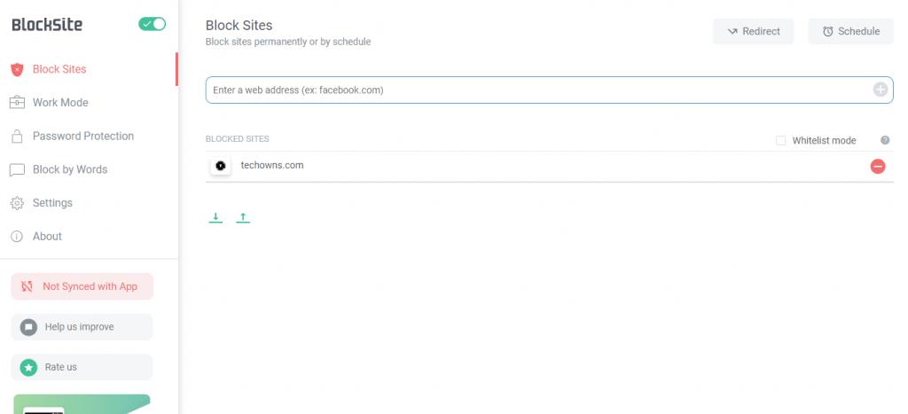 Press Minus icon - How to Block Websites on Chrome