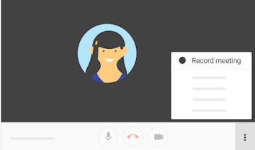Record Meetings on Google Hangouts meet