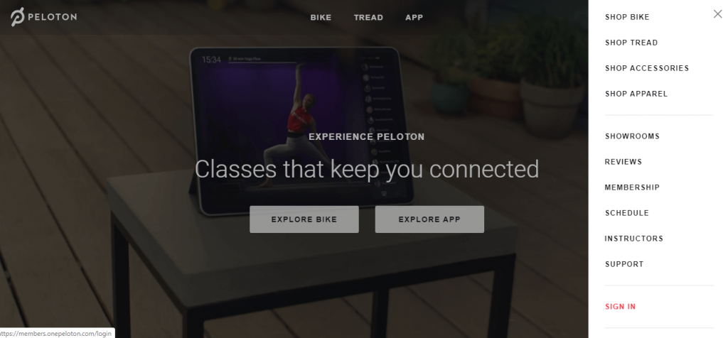 Sign In to Peloton