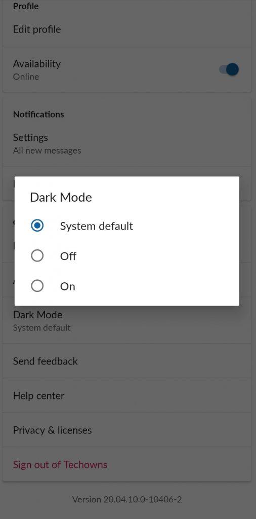 System default