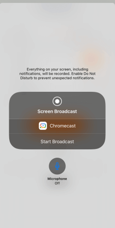 Tap on Screen Broadcast: Chromecast Zoom Meetings