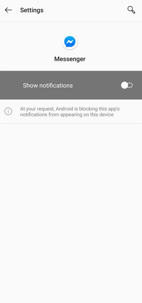 Turn off Facebook Messenger