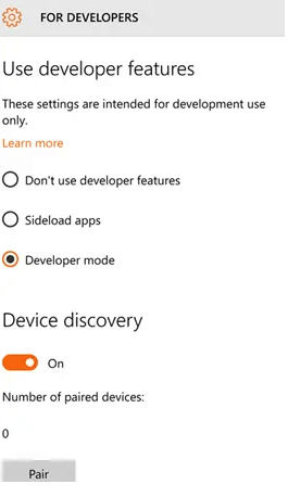 Turn on Device Discovery