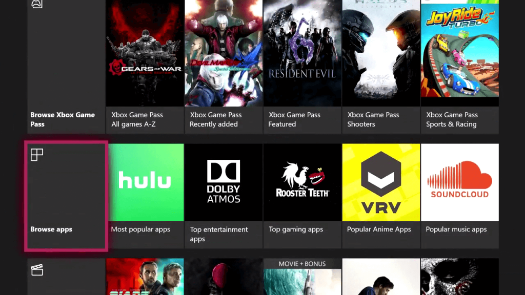 Browse apps for UFC on Xbox