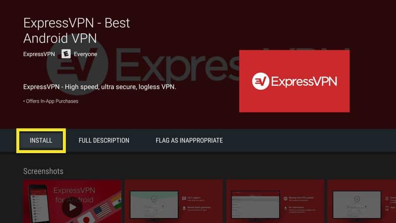 Install Express VPN