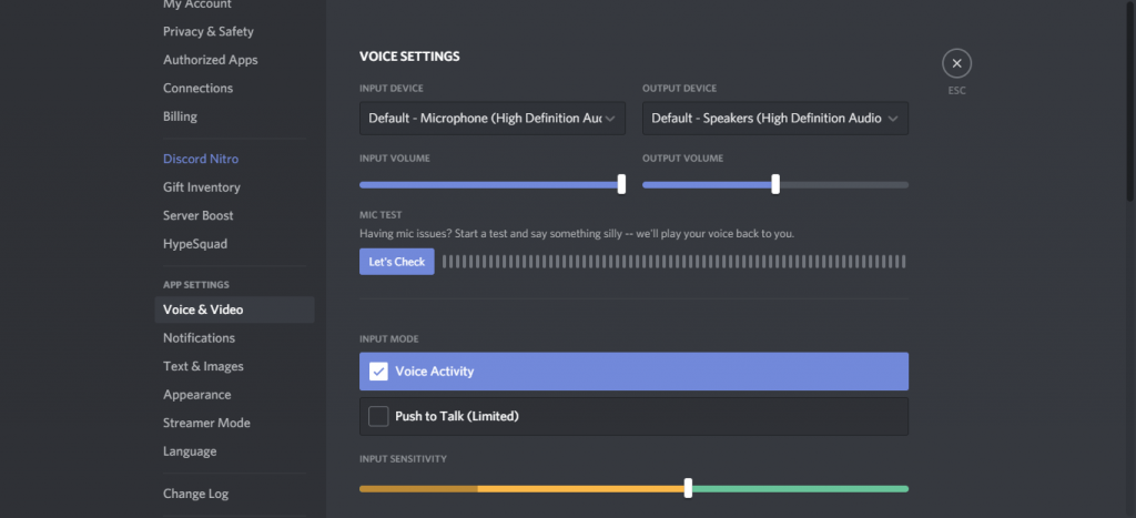 Voice Chat on Discord