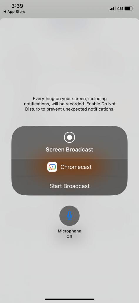 Start Broadcast