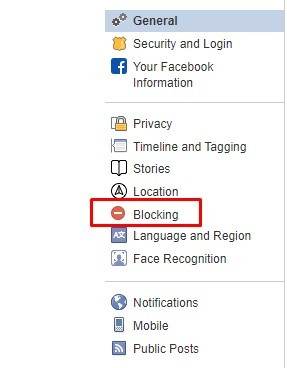 Choose blocking option