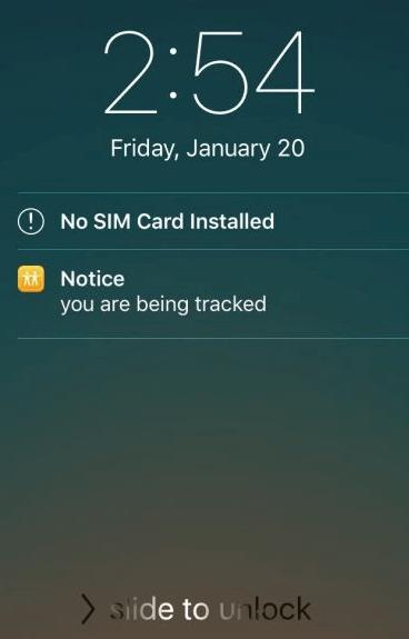 AntiTracker Notification