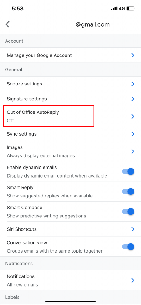 How to Enable Auto Reply Email on iPhone