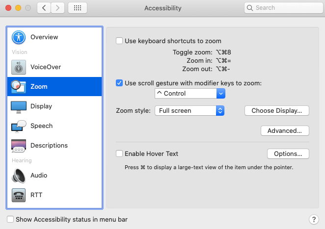 Choose to use Scroll Gesture-How to Zoom In and Out on Mac