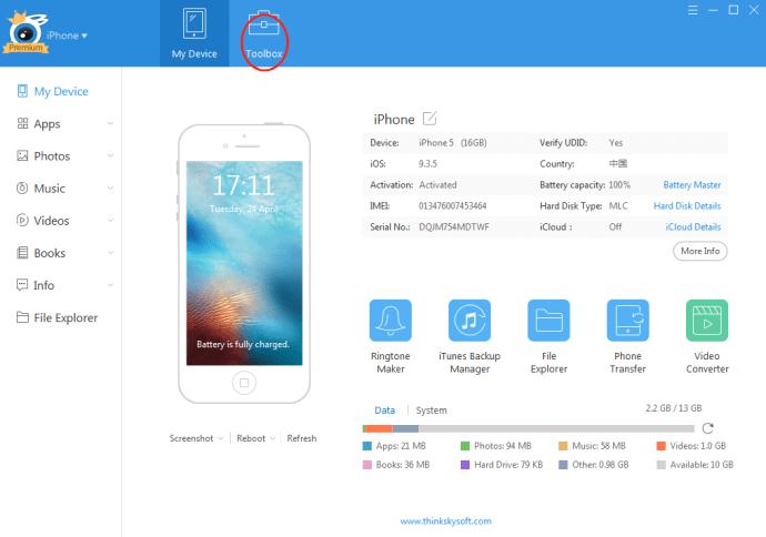 Click Toolbox panel
