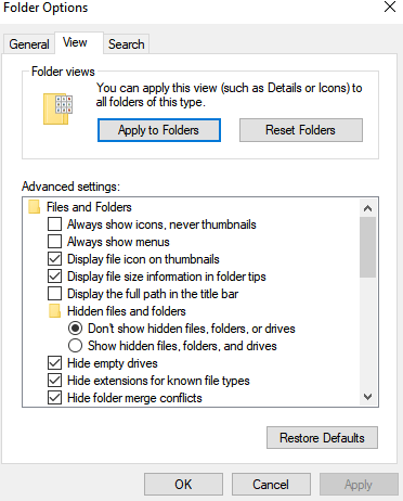 Click View tab-How to Stop Pop Ups on Windows 10 using