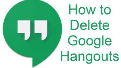 Delete Hangouts Account