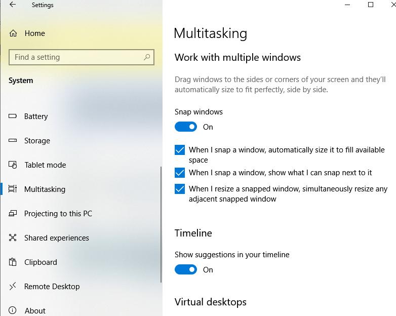 Enable Multitasking