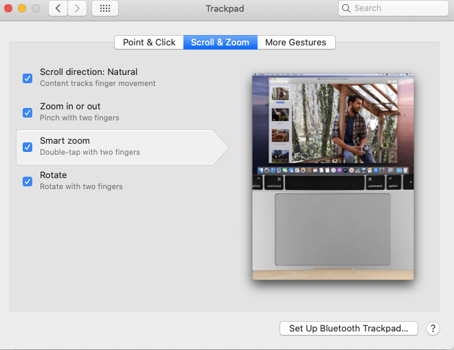 Enable Smart Zoom-How to Zoom In and Out on Mac