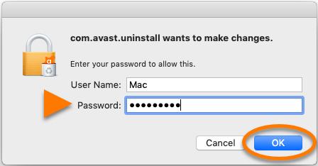 Grant Access to Uninstall Avast on Mac