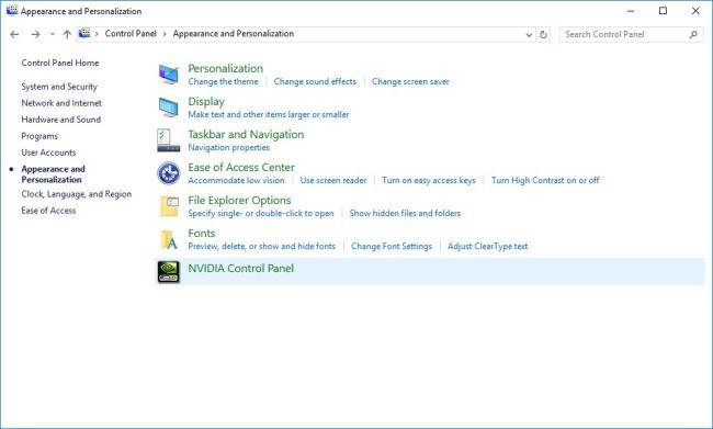 NVIDIA Control Panel Settings