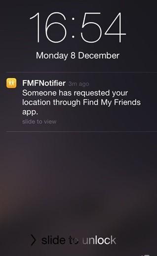 Notification from FMNotifier