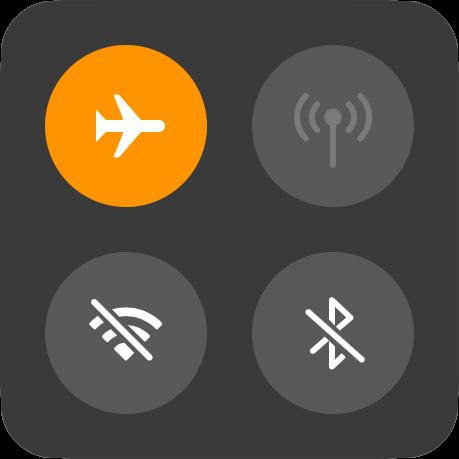 Turn on Apple Watch Aeroplane mode