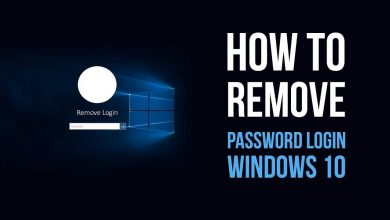 Remove Password from Windows 10
