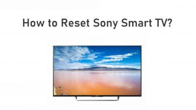 Reset Sony Smart TV