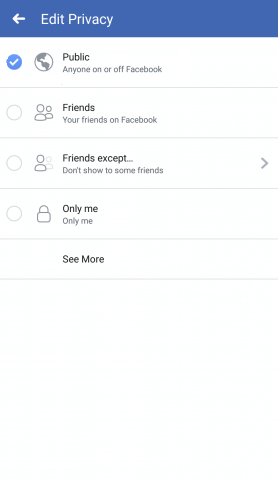 Select Public - How to Make a Facebook Post Shareable