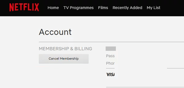Tap on Cancel Membership-How to Delete Netflix Account