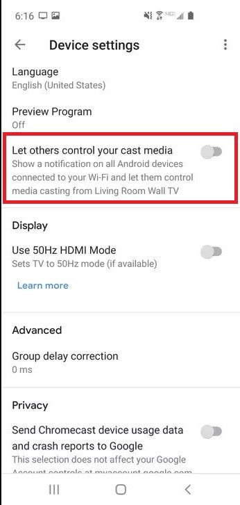 Let others control your cast media