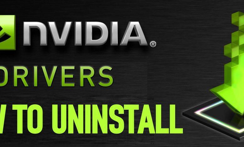 Uninstall Nvidia Drivers
