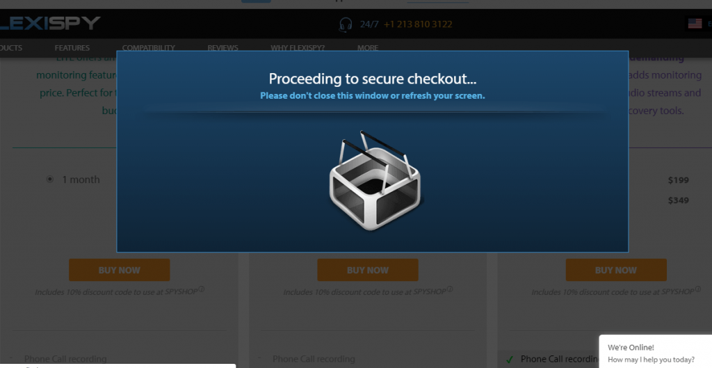 Wait for Secured Checkout