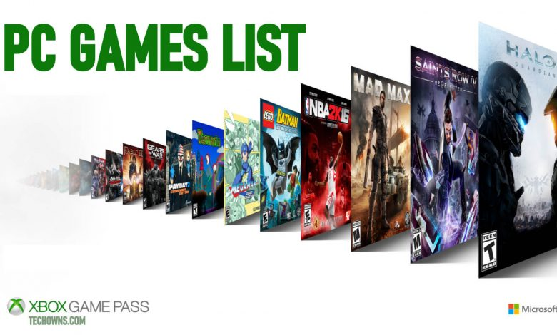 Xbox Game Pass PC Games List