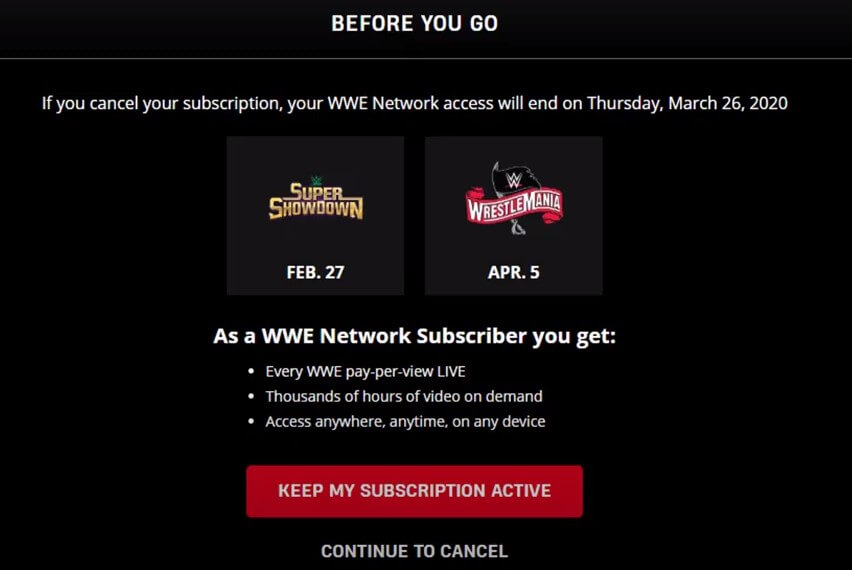 Logout wwe network WWE Shop