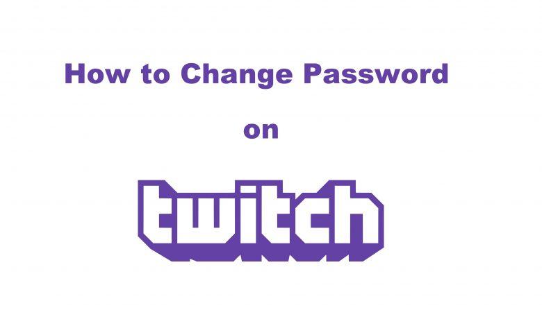 Change password on Twitch