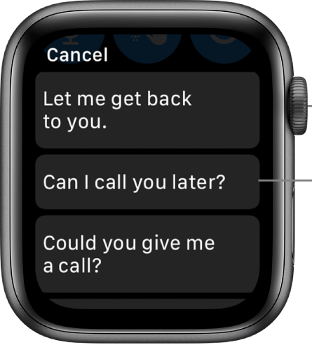 Choose Smart Reply - How to Text on Apple Watch