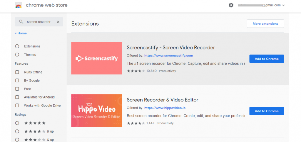 Click on Add to Chrome button-How to Screen Record on Chromebook