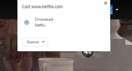 Click on Chromecast device name