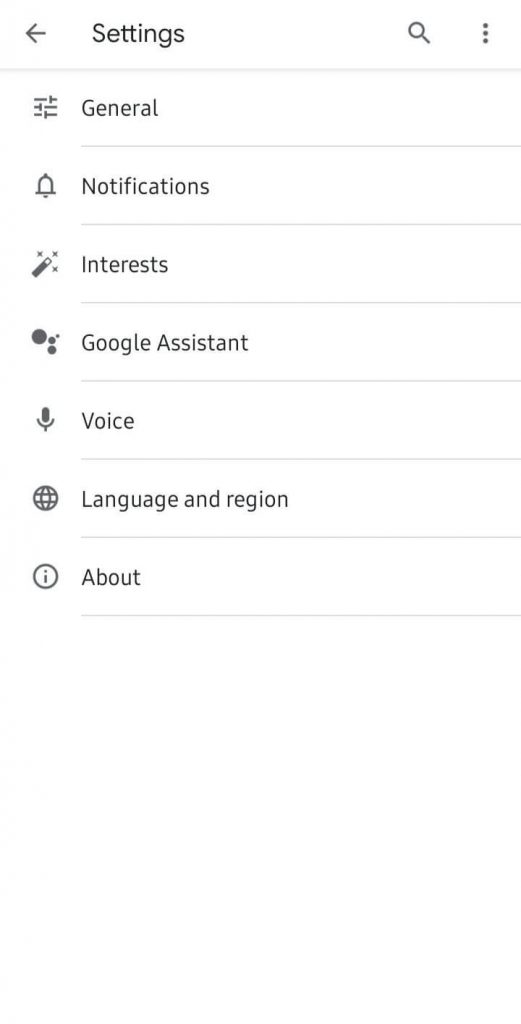 Click on Google Assistant