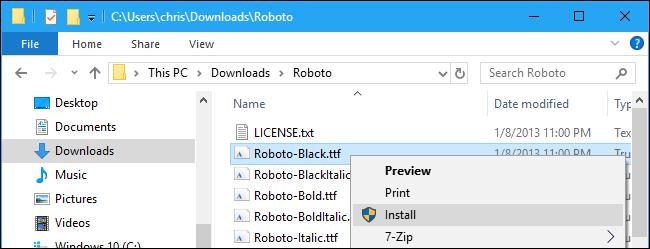 Right-click option